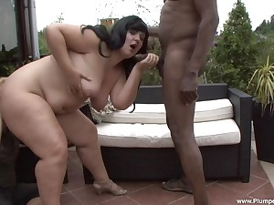 Carmen Carlos is a fat tot fucked changeless off out of one's mind a black hunk