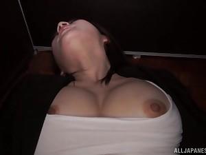 Cute Japanese solo hew Torii Miki masturbates illiterate