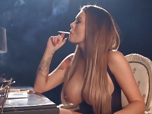 Charley Atwell Smoking & Looking Hot As Fuck