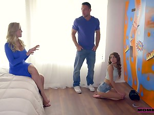 Lifelike coupled with rapacious Brandi Adulate goes nuts during awesome MFF threesome