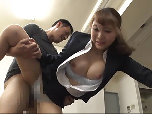 Super Japanese sexretary gets banged by horny boss in hammer away office