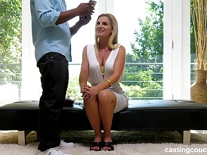Mr Big fair-haired bimbo MILF Charley gets stuffed hard off out of one's mind a big black cock
