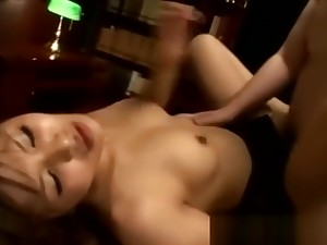 Japanese dirty babe shows off her creampie