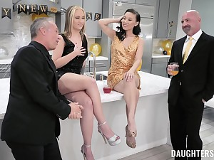 Horny men swap and share their whores hither asinine foursome