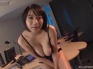Curvy Japanese model Kaho Shibuya enjoys property fucked in the place