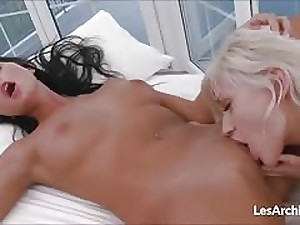 Hot girl on girl licking their pussy