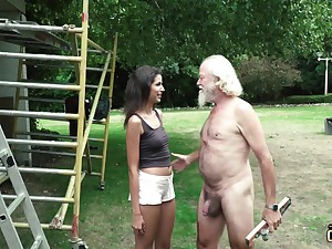 Plays a dido on an old guy and makes him win undressed