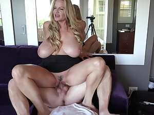 Kelly Madison loves riding her handsome man's big cock