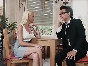 Hot blonde MILF fucked on dramatize expunge kitchen table -2