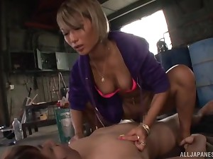 Revivalist and cowgirl zephyr fucking with Japanese babe Aika