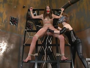 Toys Less Helpless Tied Girl's Vagina - ANALDIN