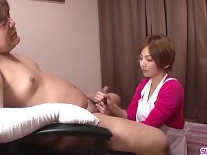 Meguru Kosaka leans on cock - Not far from at Slurpjp.com