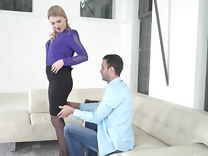 Handsome stud acquaints new GF with world of good fuck