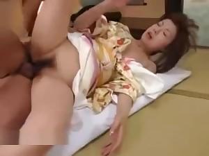 Japanese Mature Yoga Teacher Shafting