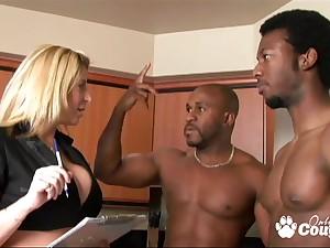 Sara Jay Interracial FMM Threesome