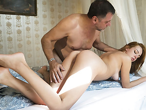 Her young pussy wants the aged man cock inside her vagina