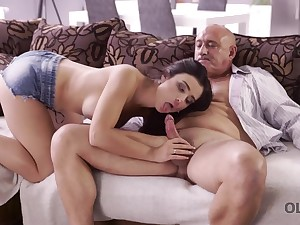 OLD4K. Sensual arousing anally improbable in great age-old and...
