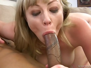 Hardcore anal with an increment of deepthroat with Adrianna Nicole with an increment of a big black dick