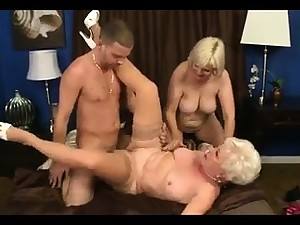 MMV FILMS Young together with Old mature threesome