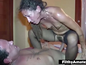 Assfuck lover eat the hoochie-coochie hairy! reproduction making out passion for the milfs!