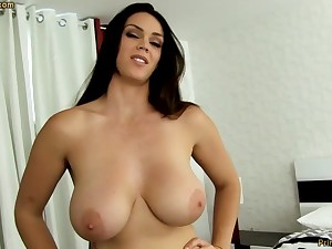 Sensual dark-haired with fat funbags, Alison Tyler luvs with regard to deep-throat meatpipe and taste some original jizm