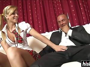 Horny Schoolgirl Has Fun With A Cock - brooklyn lee