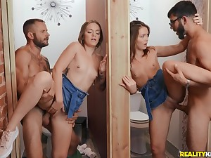Twin sisters are having a wild time in their first foursome
