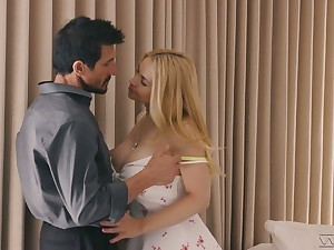 Indelicate young festival Sarah Vandella is making carry the with horny sugar daddy