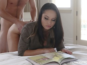 Hot busty Russian cowgirl Crystal Batter is fucked missionary style