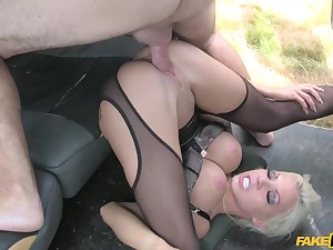 Hardcore pussy fucked with hot busty MILF Barbie Sins