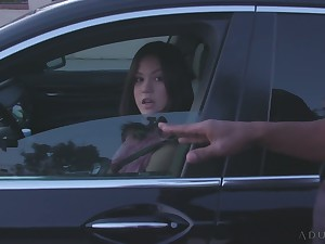 Slutty Asian housewife Kendra Spade is fucked well by black cop