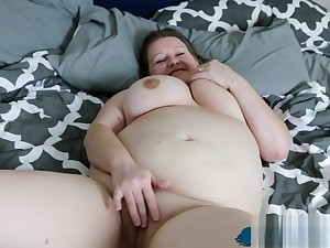 Heavy MILF Housewife Makes Herself Cum On Our Bed!