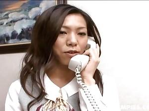 Horny Kaoru Hayami fucks her boss plus gets her hairy tw - More within reach hotajp.com