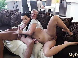 Blonde fucks old guy and petite What would you prefer -