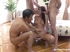 First gang prosperity for dramatize expunge slutty indulge after she strips starkers