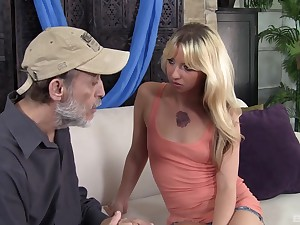 Sexy peaches wife Megan Sweet gets fucked by an older neighbor
