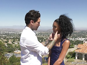 Picked up outdoors charming babe Jada Unshaded is fucked properly